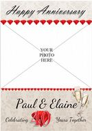 Personalised 40th Ruby Wedding Anniversary Party PHOTO Banner Poster N72